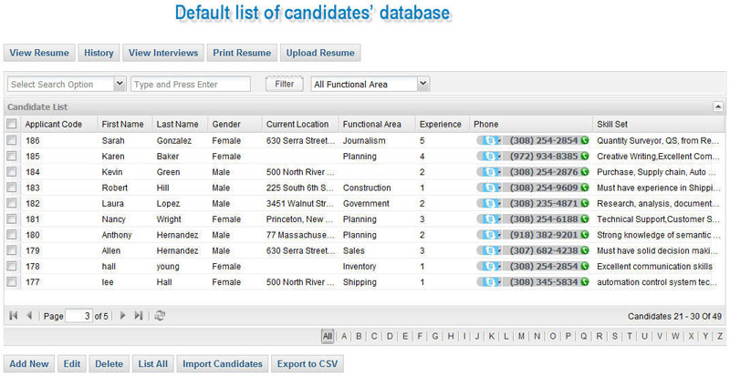 candidate tracking system  u0026 recruitment software